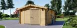 Garage en bois (44 mm), 4x6 m, 24 m² visualization 4