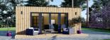 Bureau de jardin PREMIUM (SIPS, RT2012), 7x4 m 28 m² visualization 3