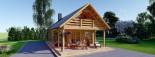 Chalet en bois AURA avec étage (66 mm), 100 m² + 35 m² terrasse visualization 3