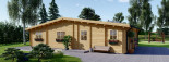 Chalet en bois habitable RIVIERA (44+44 mm, RT2012), 100 m² + 20 m² terrasse visualization 7