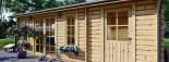 Abri de jardin avec appenti LEA (44 mm), 7x4 m, 28 m² visualization 7