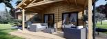 Chalet en bois habitable VERA (44+44 mm, RT2012) 132 m² + 13.5 m² terrasse visualization 10