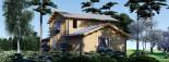 Maison en bois HOLLAND PLUS (66 mm), 120 m² + 13 m² terrasse visualization 5