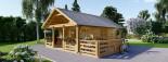 Chalet en bois avec mezzanine ANGERS (44+44 mm, RT2012), 36 m² + 19 m² terrasse visualization 4