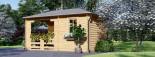 Tonnelle en bois (28 mm), 3x5 m, 15 m² visualization 5