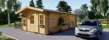 Chalet en bois habitable DIJON (44+44 mm, RT2012), 44 m² visualization 5