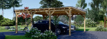 Carport en bois double MODERN, 6x6 m, 36 m² visualization 2