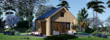 Chalet en bois SARA (44 mm + bardage), 20 m² visualization 1