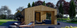 Studio de jardin ANNA Scandinavia (44 mm + bardage), 20 m² + 16 m² terrasse visualization 7