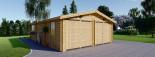 Garage en bois (44 mm), 6x9 m, 54 m² visualization 3