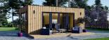 Bureau de jardin PREMIUM (SIPS, RT2012), 7x4 m 28 m² visualization 2