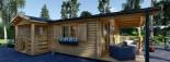 Chalet en bois DONNA PLUS (44 mm), 63 m² + 11.5 m² terrasse visualization 8