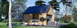 Chalet en bois habitable SALLY (44 mm + bardage, RT2012), 20 m² visualization 1