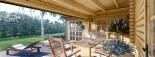 Chalet en bois BERTA (66 mm), 72 m² avec terrasse + 20 m² garage visualization 10