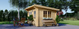 Abri de jardin à toit plat DREUX (44 mm), 4x3 m, 12 m² visualization 2
