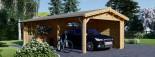 Carport en bois avec abri, 4x7.5 m, 30 m² visualization 1