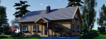 Chalet en bois habitable VERA (44+44 mm, RT2012) 132 m² + 13.5 m² terrasse visualization 6