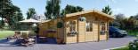 Chalet en bois DIJON (44 mm), 44 m² visualization 1