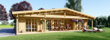 Chalet en bois RIVIERA (66 mm), 100 m² + 20 m² terrasse visualization 2