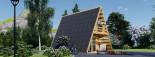 Abri de jardin TIPI, 4.5x7 m, 23 m² + 14 m² mezzanine visualization 7