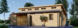 Garage en bois double TWIN (44 mm), 8x6 m, 48 m² visualization 5