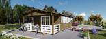 Chalet en bois HYMER (66 mm), 42 m² + 10 m² terrasse visualization 8