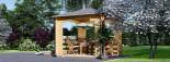 Tonnelle en bois (44 mm), 4x4 m, 16 m² visualization 5