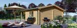Abri de jardin CAMILA (66 mm), 6x4 m, 24 m² + 11 m² auvent visualization 7
