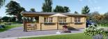 Chalet en bois HYMER (66 mm), 42 m² + 10 m² terrasse visualization 7