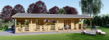 Chalet en bois habitable TOSCANA (44+44 mm, RT2012), 53 m² + 29 m² terrasse visualization 9