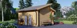 Abri de jardin ALABAMA (44 mm), 4.5x4.5 m, 19.9 m² visualization 4