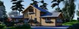 Chalet en bois HOLLAND (44+44mm) 113m + 13m terrasse visualization 7