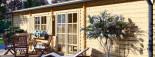 Chalet en bois à toit plat UZES (58 mm), 70 m² visualization 8