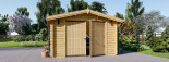 Garage en bois (44 mm), 4x6 m, 24 m² visualization 3