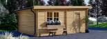 Garage en bois à toit plat MODERN (44 mm), 4x6 m, 24 m² visualization 6