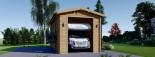Garage en bois camping car (44 mm), 4x8 m, 32 m² visualization 3