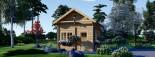 Chalet en bois AVIGNON (44 mm), 19.9 m² + 16 m² étage  visualization 2