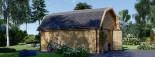 Garage en bois MISSISSIPPI (44 mm), 5x6 m, 30 m² visualization 5