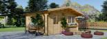 Abri de jardin NINA (44+44 mm, RT2012), 6x6 m, 36 m² visualization 1