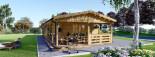 Chalet en bois TOSCANA (44+44 mm), 53 m² + 29 m² terrasse visualization 2