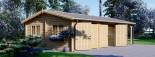 Garage en bois double (44 mm), 6x6 m + carport simple, 3x6 m, 54 m² visualization 5